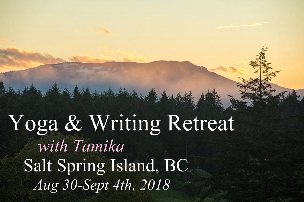 Yoga and Writing Retreat on Salt Spring Island, August 30, 2018 - September 4, 2018