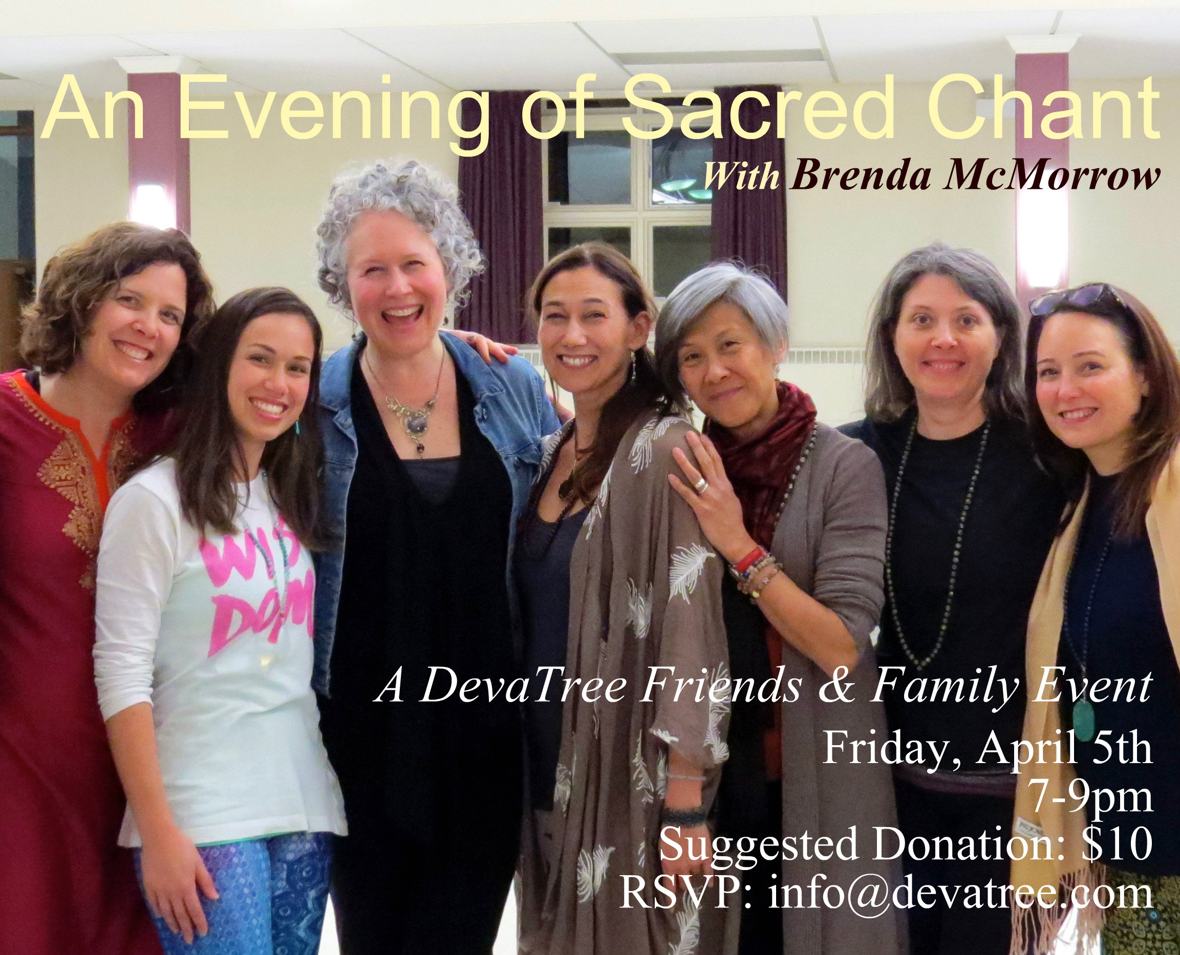 An Evening of Sacred Chant with Brenda McMorrow in London, Ontario Friday, April 5th, 2019